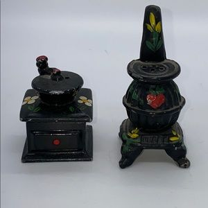 Other - Vintage Cast Iron Japan Salt and Pepper Shakers